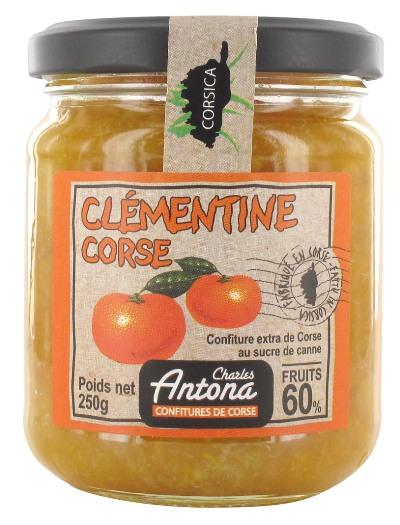 Confiture Extra de Corse Charles Antona Clémentine 250g